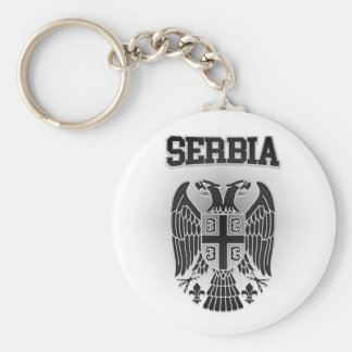 Serbia Coat of Arms Keychain