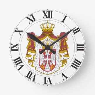 Serbia Coat of Arms Round Clock