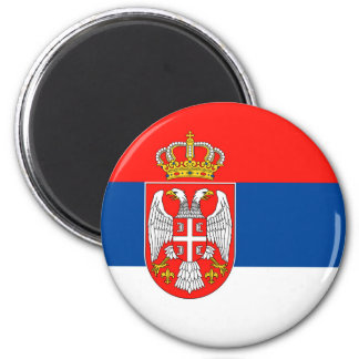 serbia country flag nation symbol name text magnet