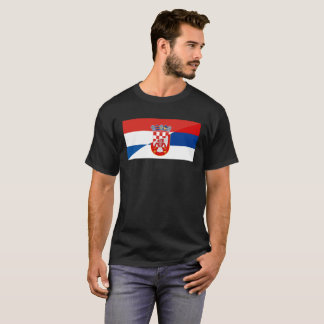 serbia croatia flag country half symbol T-Shirt