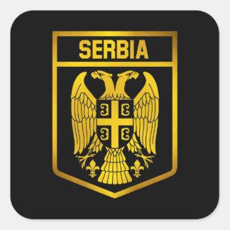 Serbia Emblem Square Sticker