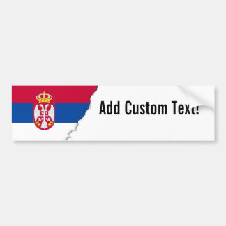 Serbia Flag Bumper Sticker