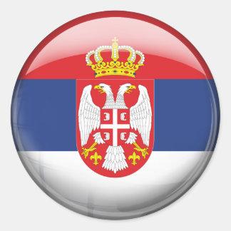 Serbia Flag Classic Round Sticker