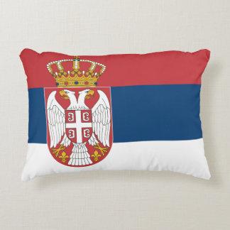 Serbia Flag Decorative Pillow