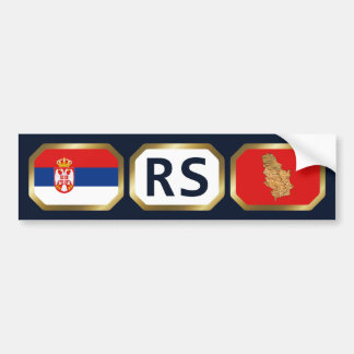 Serbia Flag Map Code Bumper Sticker