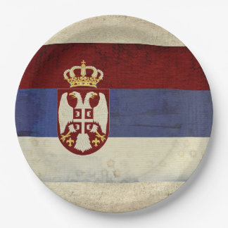 Serbia Flag Paper Plates