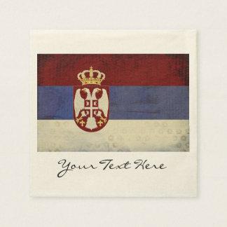 Serbia Flag Party Napkins Paper Napkins