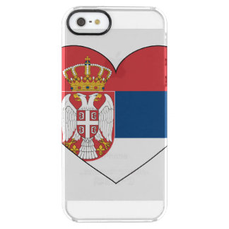 Serbia Flag Simple Clear iPhone SE/5/5s Case