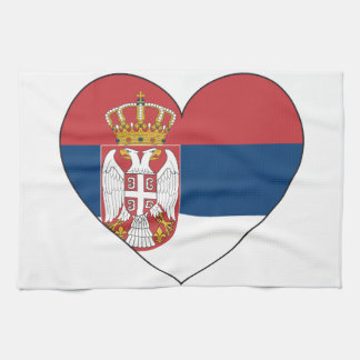 Serbia Flag Simple Kitchen Towel