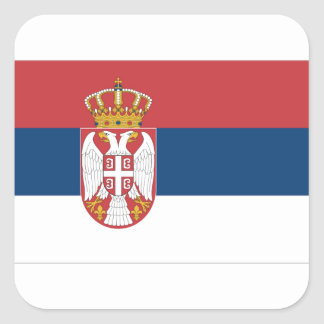Serbia Flag Square Sticker