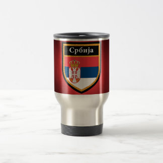 Serbia Flag Travel Mug