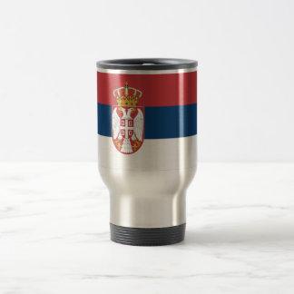 Serbia Flag Travel Mug