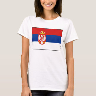 Serbia Flag x Map T-Shirt