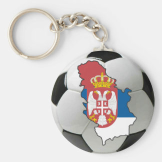 Serbia football keychain