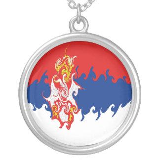 Serbia Gnarly Flag Custom Jewelry