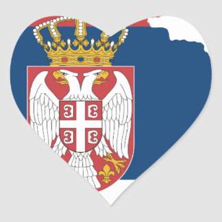 serbia heart sticker