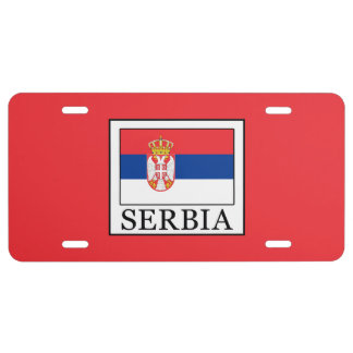 Serbia License Plate