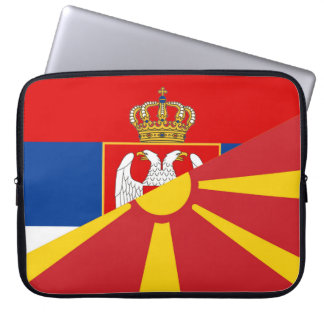 serbia macedonia flag country half symbol laptop sleeve