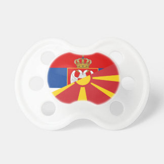serbia macedonia flag country half symbol pacifier