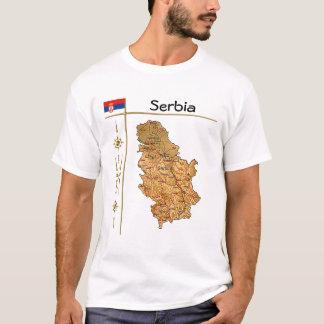 Serbia Map + Flag + Title T-Shirt