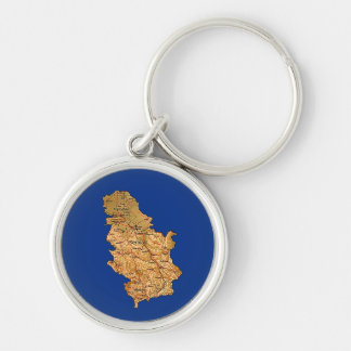 Serbia Map Keychain