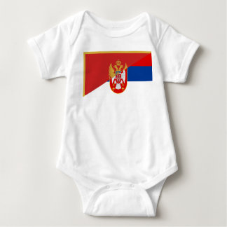 serbia montenegro flag country half symbol baby bodysuit