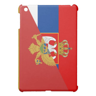 serbia montenegro flag country half symbol iPad mini cover