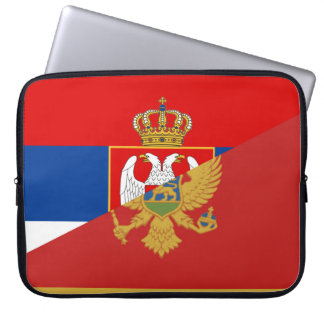 serbia montenegro flag country half symbol laptop sleeve