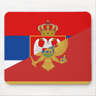 serbia montenegro flag country half symbol mouse pad