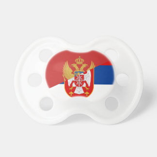 serbia montenegro flag country half symbol pacifier