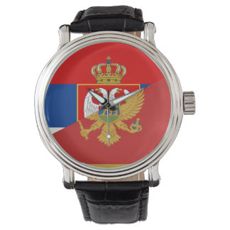 serbia montenegro flag country half symbol watch