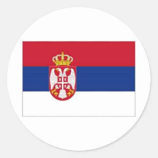 Serbia National Flag Classic Round Sticker