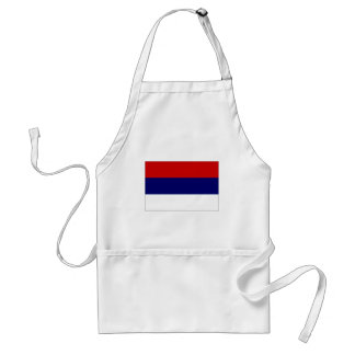 Serbia National Flag simplified Aprons