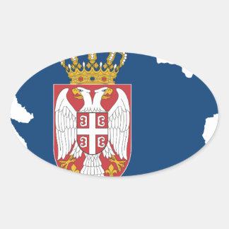 serbia oval sticker