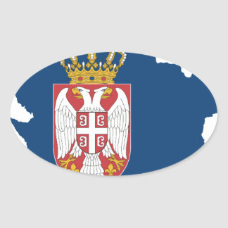 serbia oval sticker