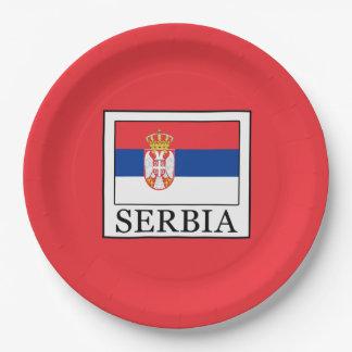 Serbia Paper Plate