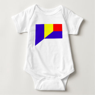 serbia romania flag country half symbol baby bodysuit