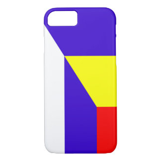 serbia romania flag country half symbol iPhone 8/7 case