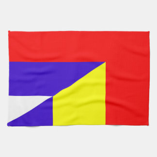 serbia romania flag country half symbol kitchen towel