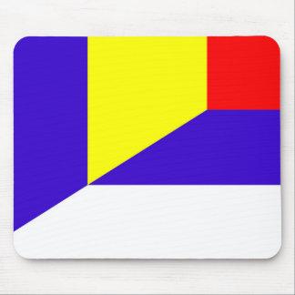 serbia romania flag country half symbol mouse pad