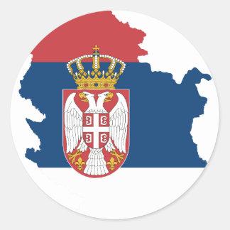 serbia round sticker