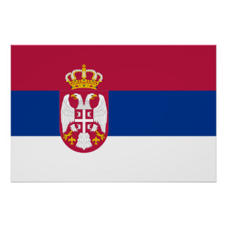 Serbia, Serbia flag Poster