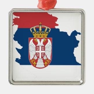 serbia Silver-Colored square ornament