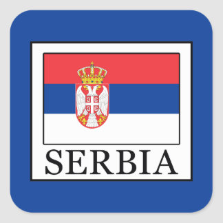 Serbia Square Sticker