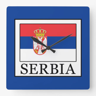 Serbia Square Wall Clock