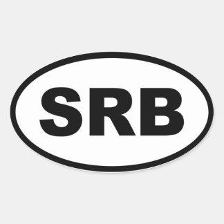 Serbia SRB European Oval Sticker