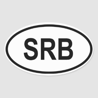 "Serbia ""SRB"" Oval Sticker"