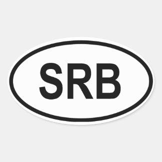 "Serbia ""SRB"" Oval Sticker"
