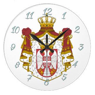 Serbian Coat arms Large Clock