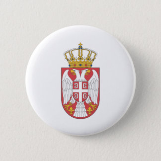 Serbian coat of arms 2 inch round button